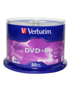 DVD+R Verbatim 4.7GB 16x, опаковка 50 на шпиндел