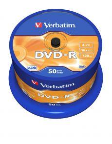 DVD-R Verbatim 4.7GB 16x, опаковка 50 броя на шпиндел