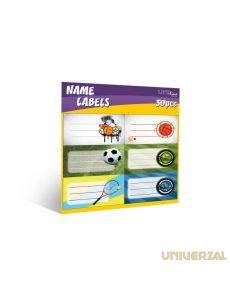 Етикети за тетрадки Uniline, опаковка 30, Kids Boys