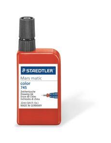 Туш за чертане Staedtler Mars matic, 22 ml, червен