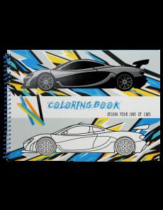 Книжка за оцветяване, А4, 31 стр., Cars