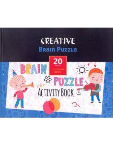 Книжка за оцветяване Brain Puzzle, 20 стр.