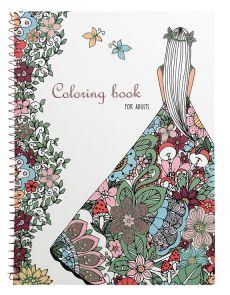 Книжка за оцветяване Adult, А4, 40 стр., Coloring