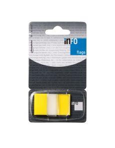 Сигнални лентички Info notes, 25x43 mm, жълти