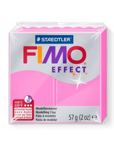 Пололимерна глина Staedtler Fimo Effect,57g, неон розов 201