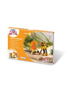 Комплект глина Fimo Kids Animals,4x42g, Lion&Tiger