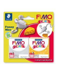 Комплект глина Staedtler Fimo Kids, 2x42g, Mice