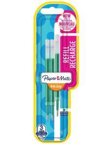 Пълнител Papermate Inkjoy Gel, блистер, опаковка 3, зелен M