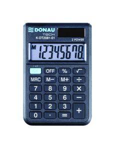 Джобен калкулатор Donau Tech, 8 разряда, черен