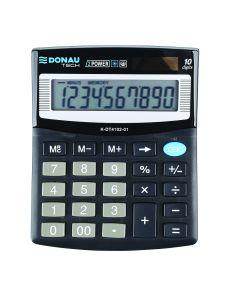 Настолен калкулатор Donau Tech, 10 разряда, черен