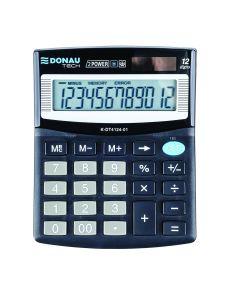 Настолен калкулатор Donau Tech, 12 разряда, черен