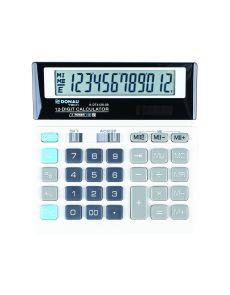 Настолен калкулатор Donau Tech, 12 разряда, бял