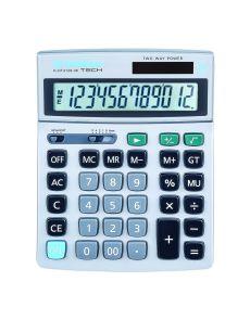 Настолен калкулатор Donau Tech, 12 разряда, сребрист