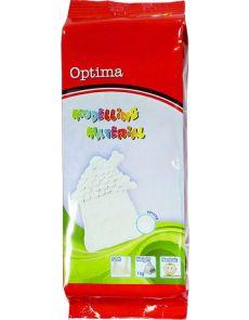 Глина за моделиране Optima, 1 kg, бяла