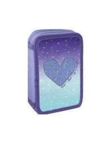 Несесер Heart, 3 ципа, пълен, 20x6x13cm