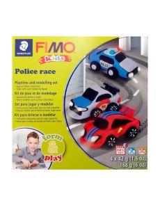 К-кт глина Staedtler Fimo Kids, 4x42g, Police Race