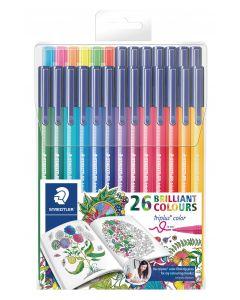 Флумастри Staedtler Adult Colouring 323, 26 цвята