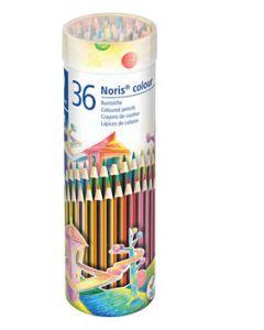 Цветни моливи Staedtler Noris 185, 36 цвята, метален тубус