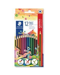 Цветни моливи Staedtler Noris Color 185, 12 цвята + Noris