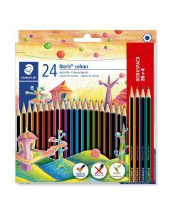 Цветни моливи Staedtler Noris Colour 185, 20+4 цвята