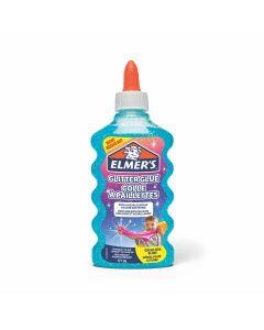 Течно лепило Elmer's Glitter Glue, 177ml, синьо