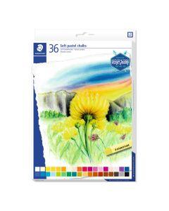 Меки пастелни тебешири Staedtler DJ, 36 цвята