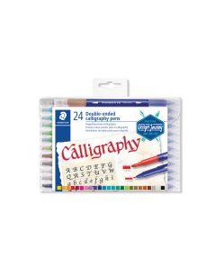 Калиграфски маркери Staedtler DJ, двувърхи, 24 цвята