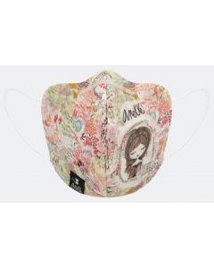 Текстилна маска Anekke, с лента, детска, 3-пластова