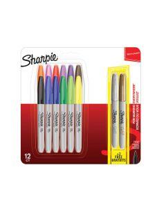 Комплект перманентни маркери Sharpie, 12 + 2 броя