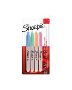 Комплект перманентни маркери Sharpie, F, 4 пастелни цветове, блистер