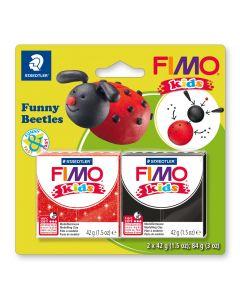 Комплект глина Staedtler Fimo Kids, 2x42g, Beetles