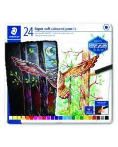 Цветни моливи Staedtler Design Journey super soft, 24 цвята, метална кутия