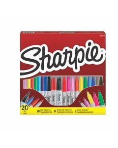 Комплект перманентни маркери Sharpie Big Pack Mix, 20 бр