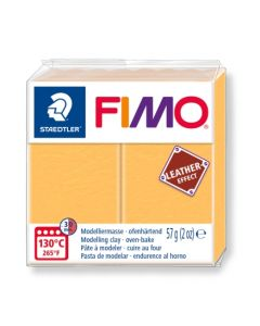 Пол. глина Fimo Leather 8010, 57g, жълт 109