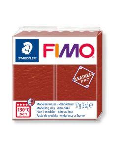 Пол. глина Fimo Leather 8010, 57g, червен 749