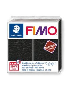 Пол. глина Fimo Leather 8010, 57g, черен 909