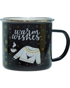 Метална чаша XMAS, Warm wishes